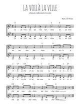 Téléchargez l'arrangement de la partition de Traditionnel-La-voila-la-ville en PDF à deux voix