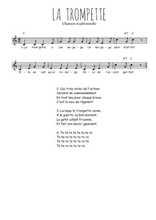 La partition gratuite de La trompette