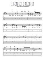 Téléchargez la tablature de la musique comptine-le-bon-roi-dagobert en PDF