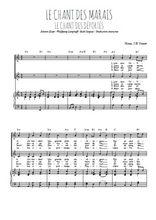 Téléchargez la partition de Le chant des marais en PDF pour 2 voix égales et piano
