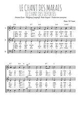 Téléchargez l'arrangement de la partition de chant-des-marais-chant-des-deportes en PDF à trois voix