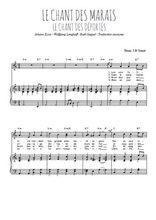 Téléchargez la partition de Le chant des marais en PDF pour Chant et piano