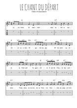 Téléchargez la tablature de la musique Traditionnel-Le-chant-du-depart en PDF