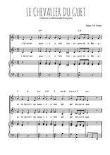 Téléchargez la partition de Le chevalier du guet en PDF pour 2 voix égales et piano