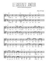 Téléchargez l'arrangement de la partition de Traditionnel-Le-jardin-d-amour en PDF à deux voix