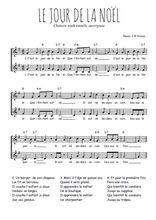 Téléchargez l'arrangement de la partition de Traditionnel-Le-jour-de-la-Noel en PDF à deux voix