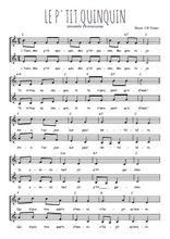 Téléchargez l'arrangement de la partition de le-p-tit-quinquin en PDF à deux voix