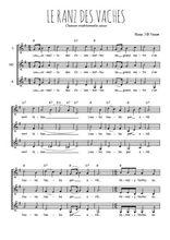 Téléchargez l'arrangement de la partition de suisse-le-ranz-des-vaches en PDF pour trois voix de femmes