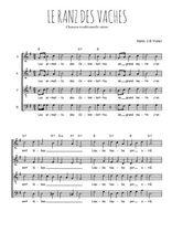 Téléchargez l'arrangement de la partition de suisse-le-ranz-des-vaches en PDF à quatre voix
