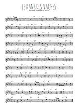 Téléchargez la partition en Sib de la musique suisse-le-ranz-des-vaches en PDF