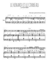 Téléchargez la partition de Le renard et le corbeau en PDF pour Chant et piano