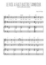 Téléchargez la partition de Le roi a fait battre tambour en PDF pour 2 voix égales et piano