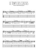 Téléchargez la tablature de la musique le-temps-des-cerises en PDF