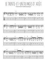 Téléchargez la tablature de la musique chant-de-marin-le-trente-et-un-du-mois-d-aout en PDF