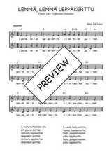 Téléchargez l'arrangement de la partition de Traditionnel-Lenna-lenna-leppakerttu en PDF à deux voix