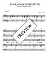 Téléchargez la partition de Lennä, lennä leppäkerttu en PDF pour 3 voix SAB et piano
