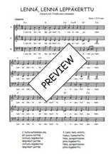 Téléchargez l'arrangement de la partition de Traditionnel-Lenna-lenna-leppakerttu en PDF à trois voix