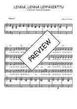 Téléchargez la partition de Lennä, lennä leppäkerttu en PDF pour 4 voix SATB et piano