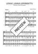 Téléchargez l'arrangement de la partition de Traditionnel-Lenna-lenna-leppakerttu en PDF à quatre voix