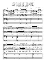 Téléchargez la partition de Les gars de Locminé en PDF pour 2 voix égales et piano
