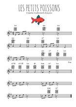 Téléchargez la partition en Sib de la musique comptine-les-petits-poissons en PDF