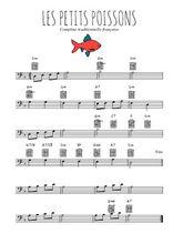 Téléchargez la partition de comptine-les-petits-poissons en clef de fa