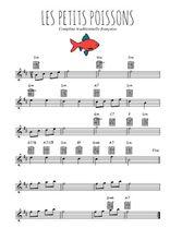 Téléchargez la partition pour saxophone en Mib de la musique comptine-les-petits-poissons en PDF
