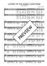 Téléchargez l'arrangement de la partition de Traditionnel-Listen-to-the-angels-shouting en PDF à deux voix