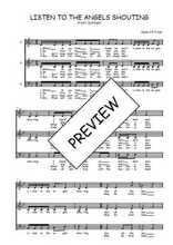 Téléchargez l'arrangement de la partition de Traditionnel-Listen-to-the-angels-shouting en PDF à trois voix