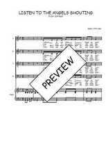 Téléchargez la partition de Listen to the angels shouting en PDF pour 4 voix SATB et piano