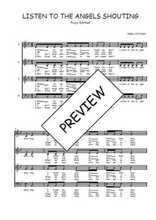 Téléchargez l'arrangement de la partition de Traditionnel-Listen-to-the-angels-shouting en PDF à quatre voix