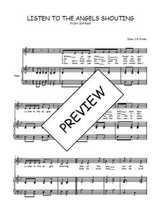 Téléchargez la partition de Listen to the angels shouting en PDF pour Chant et piano