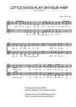 Téléchargez l'arrangement de la partition de Traditionnel-Little-David-play-on-your-harp en PDF à deux voix