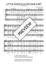 Téléchargez l'arrangement de la partition de Traditionnel-Little-David-play-on-your-harp en PDF à trois voix