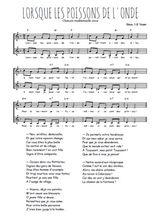 Téléchargez l'arrangement de la partition de Traditionnel-Lorsque-les-poissons-de-l-onde en PDF à deux voix