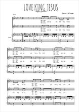 Téléchargez la partition de Love king Jesus en PDF pour 2 voix égales et piano