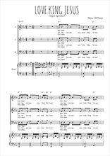 Téléchargez la partition de Love king Jesus en PDF pour 3 voix SAB et piano