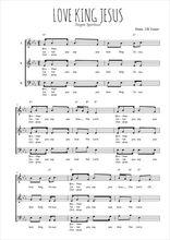 Téléchargez l'arrangement de la partition de Traditionnel-Love-king-Jesus en PDF à trois voix