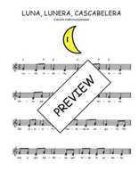 Téléchargez l'arrangement de la partition de Traditionnel-Luna-lunera-cascabelera en PDF à deux voix