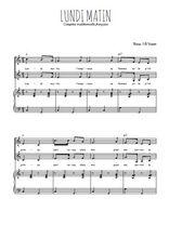 Téléchargez la partition de Lundi matin en PDF pour 2 voix égales et piano