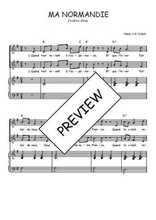 Téléchargez la partition de Ma Normandie en PDF pour 2 voix égales et piano