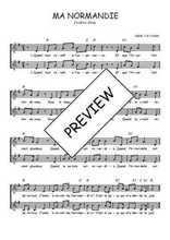 Téléchargez l'arrangement de la partition de Frederic-Berat-Ma-Normandie en PDF à deux voix