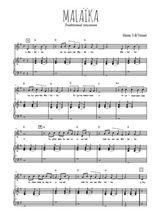 Téléchargez la partition de Malaika en PDF pour Chant et piano