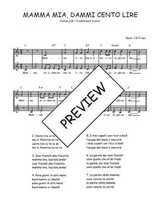 Téléchargez l'arrangement de la partition de Traditionnel-Mamma-mia-dammi-cento-lire en PDF à deux voix