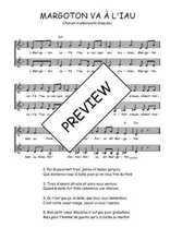 Téléchargez l'arrangement de la partition de Traditionnel-Margoton-va-t-a-l-iau en PDF à deux voix
