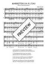 Téléchargez l'arrangement de la partition de Traditionnel-Margoton-va-t-a-l-iau en PDF à trois voix
