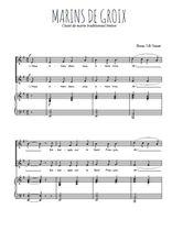Téléchargez la partition de Marins de Groix en PDF pour 2 voix égales et piano