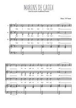 Téléchargez la partition de Marins de Groix en PDF pour 3 voix SAB et piano