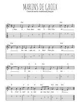 Téléchargez la tablature de la musique Traditionnel-Marins-de-Groix en PDF