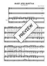 Téléchargez la partition de Mary and Martha en PDF pour 2 voix égales et piano